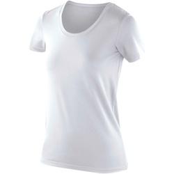 Textiel Dames T-shirts korte mouwen Spiro Softex Wit