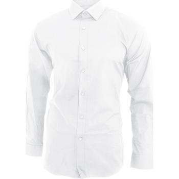 Textiel Heren Overhemden lange mouwen Brook Taverner BK130 Wit