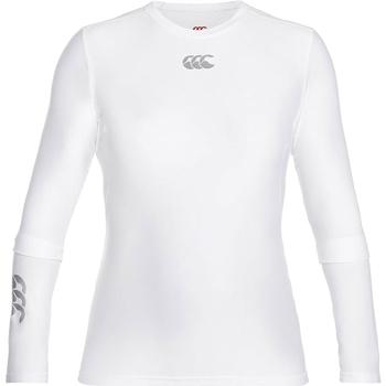 Textiel Heren T-shirts met lange mouwen Canterbury CN360 Wit