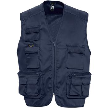 Textiel Heren Vesten / Cardigans Sols 43630 Marine