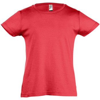 Textiel Meisjes T-shirts korte mouwen Sols Cherry Rood
