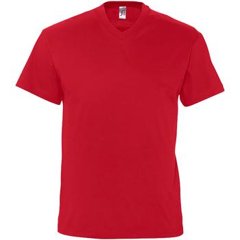 Textiel Heren T-shirts korte mouwen Sols Victory Rood