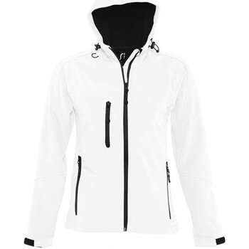 Textiel Dames Windjacken Sols Hooded Wit