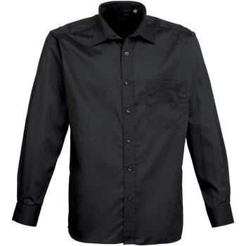 Textiel Heren Overhemden lange mouwen Premier Poplin Zwart