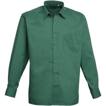 Textiel Heren Overhemden lange mouwen Premier Poplin Smaragd