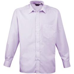 Textiel Heren Overhemden lange mouwen Premier Poplin Lila