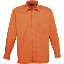 Textiel Heren Overhemden lange mouwen Premier Poplin Oranje