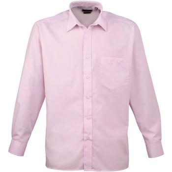 Textiel Heren Overhemden lange mouwen Premier Poplin Roze