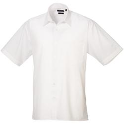 Textiel Heren Overhemden korte mouwen Premier Poplin Wit