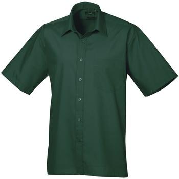 Textiel Heren Overhemden korte mouwen Premier Poplin Fles