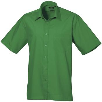 Textiel Heren Overhemden korte mouwen Premier Poplin Smaragd