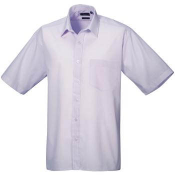 Textiel Heren Overhemden korte mouwen Premier Poplin Lila