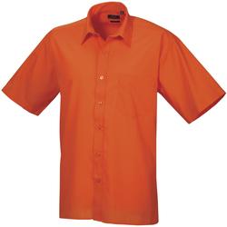 Textiel Heren Overhemden korte mouwen Premier Poplin Oranje