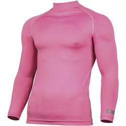 Textiel Heren T-shirts met lange mouwen Rhino RH001 Roze