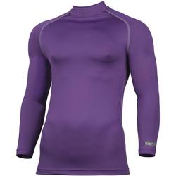 Textiel Heren T-shirts met lange mouwen Rhino RH001 Paars