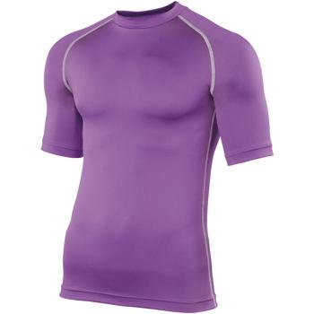 Textiel Heren T-shirts korte mouwen Rhino RH002 Paars