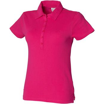 Textiel Dames Polo's korte mouwen Skinni Fit Stretch Fuchsia