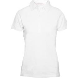 Textiel Dames Polo's korte mouwen Skinni Fit Stretch Wit