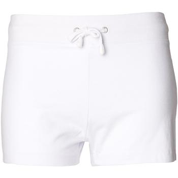 Textiel Dames Korte broeken / Bermuda's Skinni Fit SK062 Wit