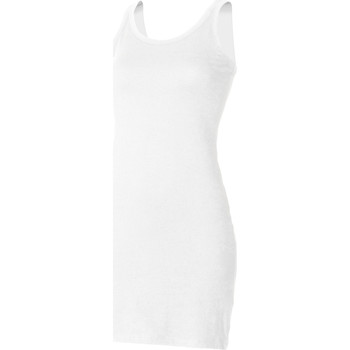 Textiel Dames Mouwloze tops Skinni Fit Stretch Wit