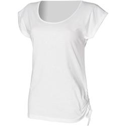 Textiel Dames T-shirts korte mouwen Skinni Fit Slounge Wit