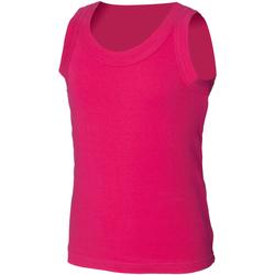Textiel Kinderen Mouwloze tops Skinni Fit SM016 Fuchsia