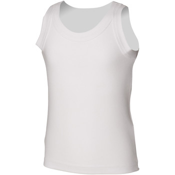 Textiel Kinderen Mouwloze tops Skinni Fit SM016 Wit