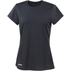 Textiel Dames T-shirts korte mouwen Spiro Performance Zwart