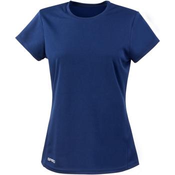Textiel Dames T-shirts korte mouwen Spiro Performance Marine