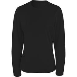 Textiel Dames T-shirts met lange mouwen Spiro Performance Zwart