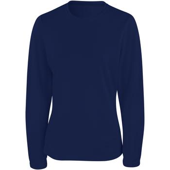 Textiel Dames T-shirts met lange mouwen Spiro Performance Marine