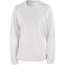 Textiel Dames T-shirts met lange mouwen Spiro Performance Wit