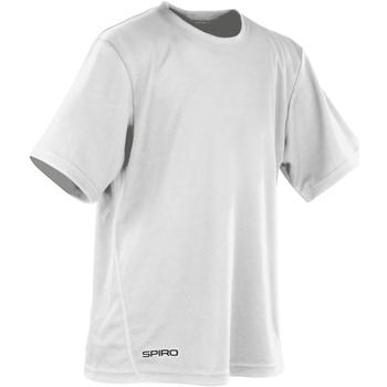 Textiel Jongens T-shirts korte mouwen Spiro S253J Wit