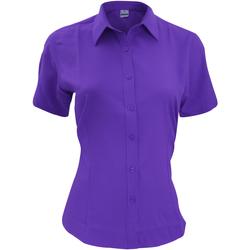 Textiel Heren Overhemden korte mouwen Henbury HB596 Paars