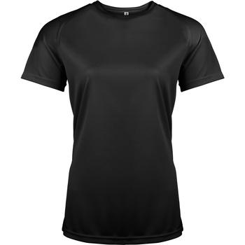 Textiel Dames T-shirts korte mouwen Kariban Proact Performance Zwart