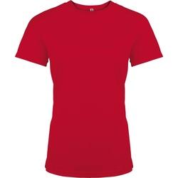 Textiel Dames T-shirts korte mouwen Kariban Proact Performance Rood