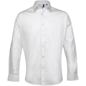 Textiel Heren Overhemden lange mouwen Premier Poplin Wit
