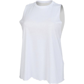 Textiel Dames Mouwloze tops Skinni Fit High Neck Wit