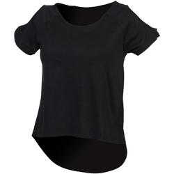 Textiel Dames T-shirts korte mouwen Skinni Fit SK233 Zwart