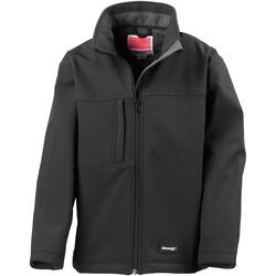 Textiel Jongens Wind jackets Result Softshell Zwart