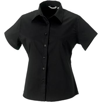 Textiel Dames Overhemden Russell Classic Zwart