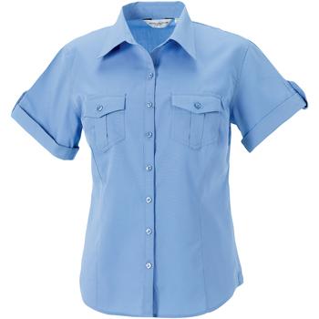 Textiel Dames Overhemden Russell Work Blauw