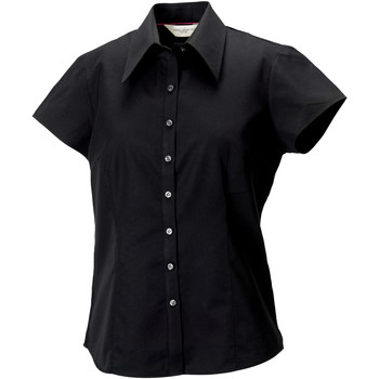 Textiel Dames Overhemden Russell J955F Zwart