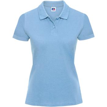 Textiel Dames Polo's korte mouwen Russell Classics Sky
