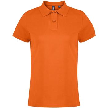 Textiel Dames Polo's korte mouwen Asquith & Fox  Oranje