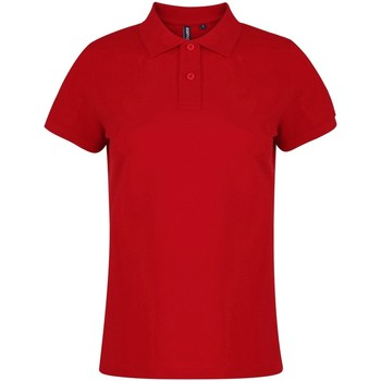 Textiel Dames Polo's korte mouwen Asquith & Fox  Rood