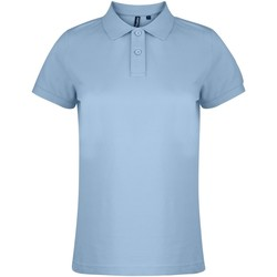 Textiel Dames Polo's korte mouwen Asquith & Fox  Sky