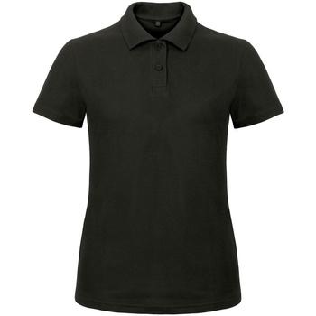 Textiel Dames Polo's korte mouwen B And C ID.001 Zwart