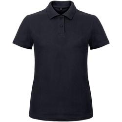 Textiel Dames Polo's korte mouwen B And C ID.001 Marine
