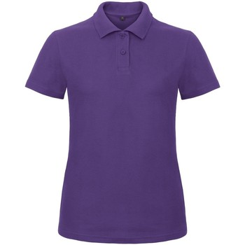 Textiel Dames Polo's korte mouwen B And C ID.001 Paars